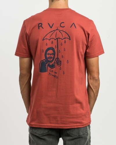 【SALE】RVCA メンズ 【ANDREW POMMIER】 GRIM TIMES SS Tシャツ