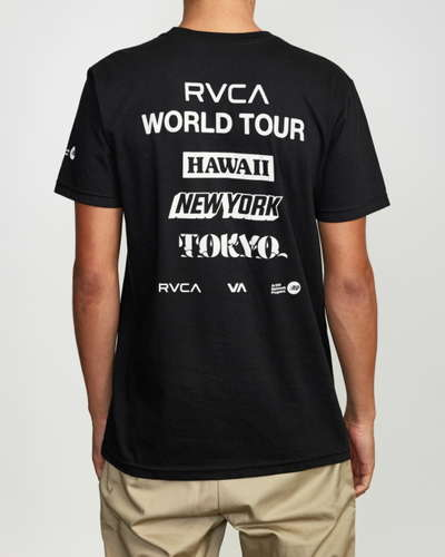 【RVCA WORLD TOUR TOKYO】<br>RVCA メンズ WORLD TOUR TOKYO SS Tシャツ BLK