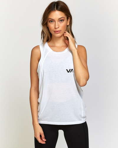 RVCA SPORT レディース DIONE MUSCLE TANK TOP タンクトップ WHT